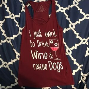 Drink Wine and Rescue Dogs Tank Top